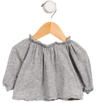 Makie Girls' Knit Ruffle-Trimmed Top