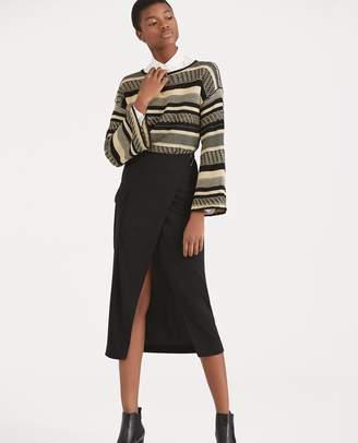 Ralph Lauren Jersey Cargo Wrap Skirt