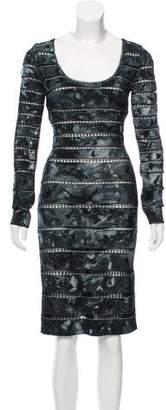 Herve Leger Crochet-Accented Bandage Dress