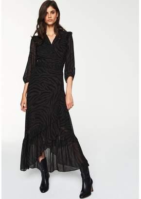BA&SH Selena Zebra Maxi Dress - Size 1 UK8