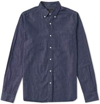 Beams Button Down Denim Shirt