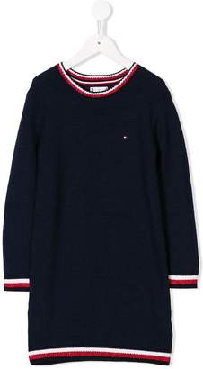 Tommy Hilfiger Junior striped trim sweater dress