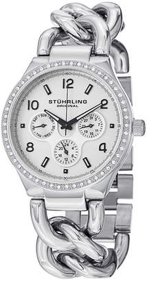 Stuhrling Original Womens Silver Tone Bracelet Watch-Sp14835