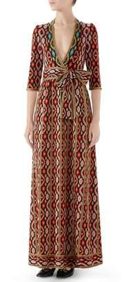 Gucci Metallic Jacquard Maxi Dress