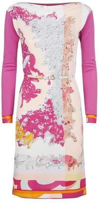 Emilio Pucci Belted Print Dress