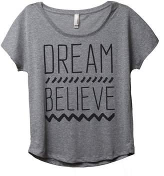 Thread Tank Dream Believe Women's Slouchy Dolman T-Shirt Tee 2X-Large