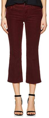 J Brand WOMEN'S SELENA CORDUROY MID-RISE SKINNY CROP PANTS