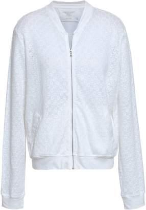 Majestic Filatures Embroidered Linen-jersey Bomber Jacket