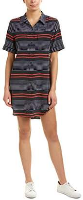 Equipment Women's Short Sleeve Slim Signature Stripe Dress