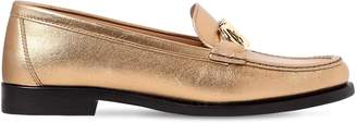 Salvatore Ferragamo 20mm Rolo Metallic Leather Loafers