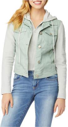 WallFlower Big Girl Twill Two-fer Jacket