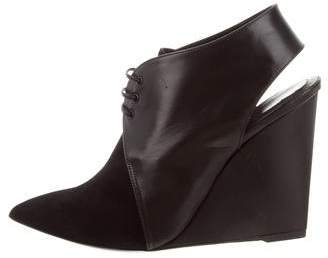 Christian Dior Pointed-Toe Wedge Booties