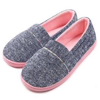 31fab78f9 ChicNChic Women Comfortable Cotton Knit Anti-Slip House Slipper Washable  Slip-On Home Shoes