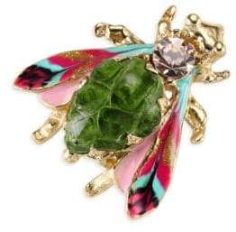 Gas Bijoux Glass Cabochon Insect Brooch