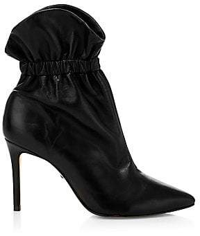 Schutz Women's Dira Paperbag Leather Ankle Boots