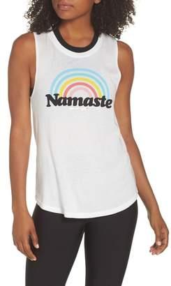 Spiritual Gangster Rainbow Namaste Muscle Tee