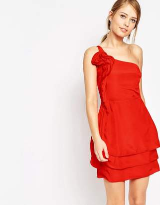 Oasis Ruffle One Shoulder Dress