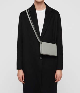 AllSaints Fetch Leather Chain Crossbody Bag