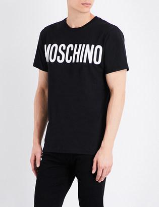 Moschino Logo cotton T-shirt $90 thestylecure.com