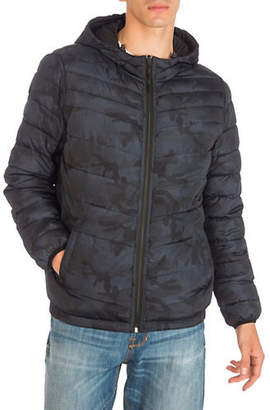GUESS Reversible Quilted Hooded Jacket