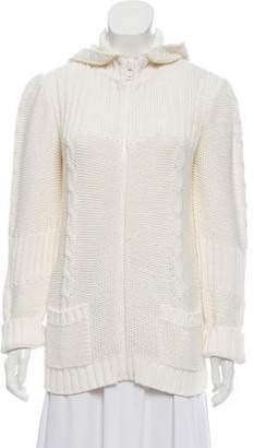 Courreges Hooded Knit Jacket