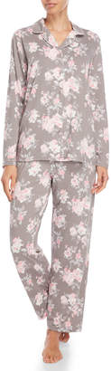 Company Ellen Tracy Two-Piece Floral Shirt & Pant Pajama Set