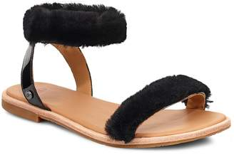 UGG Fluff Springs Genuine Shearling Sandal