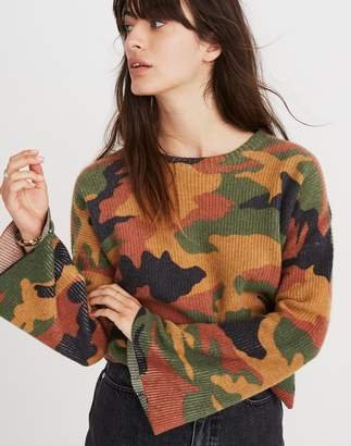Madewell Cottontail Camo Wide-Sleeve Sweater