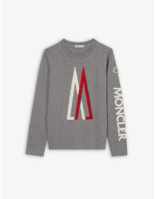 at Selfridges · Moncler Logo long-sleeved cotton top 4-14 years