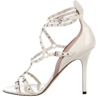Valentino Love Latch Patent Leather Sandals w/ Tags