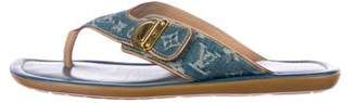 Louis Vuitton Denim Monogram Slide Sandals