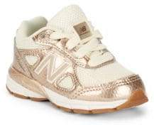 New Balance Little Girl's & Girl's 990 V4 Lace-Up Sneakers