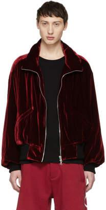 Amiri Red Velvet Puff Jacket