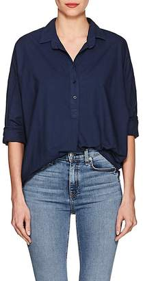 A Shirt Thing Women's Oversized Cotton Poplin Blouse