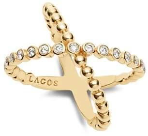 Lagos Caviar Gold Collection 18K Gold & Diamond Ring