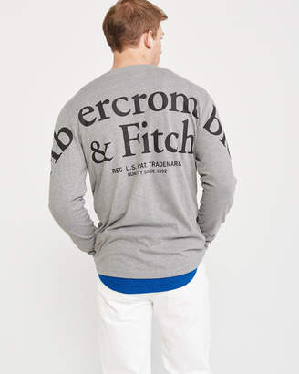 Abercrombie & Fitch Long-Sleeve Back Logo Tee