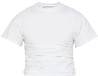 Bianca Saunders - Creased Cropped Cotton Blend Top - Mens - White