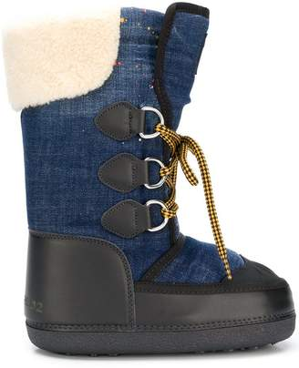 DSQUARED2 lace-up moon boots