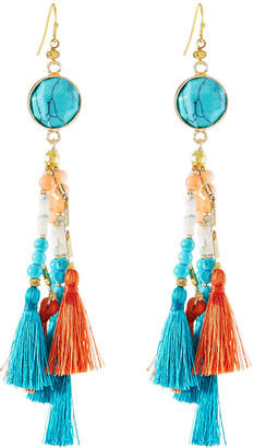 Nakamol Multi-Tassel Fringe Drop Earrings
