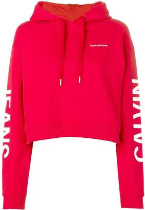 Calvin Klein Jeans logo-print hoodie