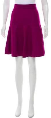 CH Carolina Herrera Fleece-Wool Knee-Length Skirt