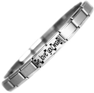 Mam JSC Jewellery We Love You Nomination Style Stainless Steel Bracelet Ideal Birthday Gift