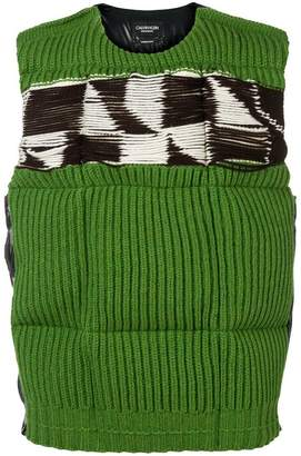 Calvin Klein patterned knitted padded gilet