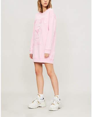 Moschino Logo-print cotton-jersey jumper dress