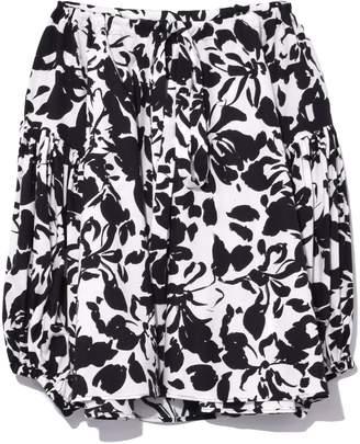 Aspesi Puff Sleeve Off Shoulder Top in Black/White