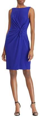 Lauren Ralph Lauren Petites Twist-Front Sheath Dress