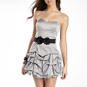 Ruby Rox Juniors Party Dress, Belted Pickup Tube