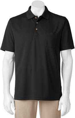 Equipment Big & Tall Grand Slam Airflow Solid Pocketed Performance Golf Polo