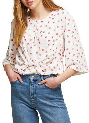 Miss Selfridge Dotted Twist Blouse
