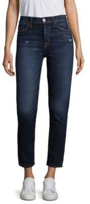 Hudson Holly High-Rise Tonal Skinny Jeans